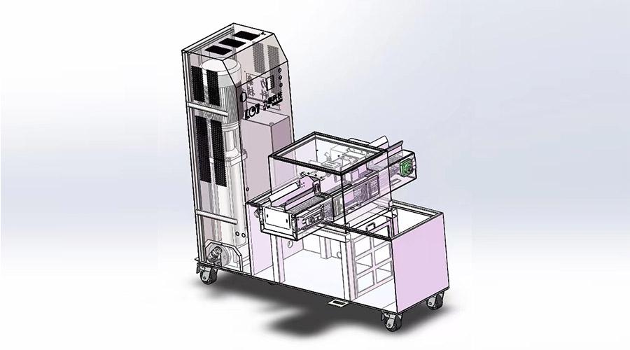 关于新款分体式氧化皮清洗机的细节介绍