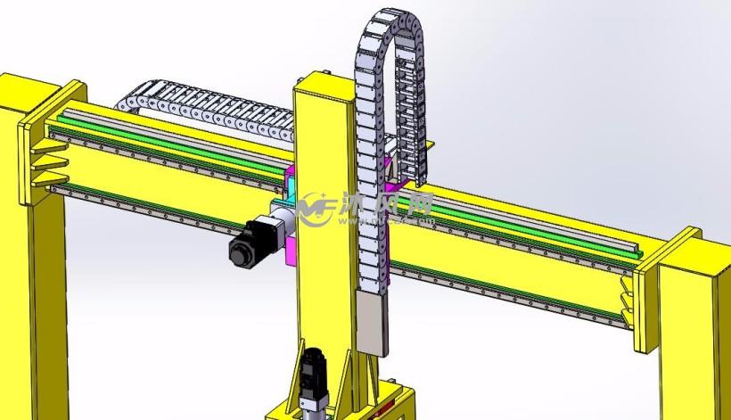 螺栓锻件锻造自动化设备上使用的桁架机械手